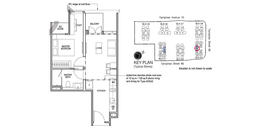 New Launch 1 Bedroom Floor Plan