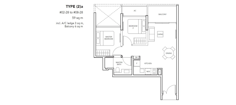 New Launch 2 Bedroom Floor Plan