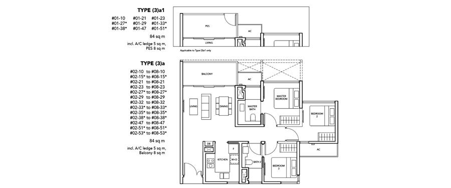 New Launch 3 Bedroom Floor Plan