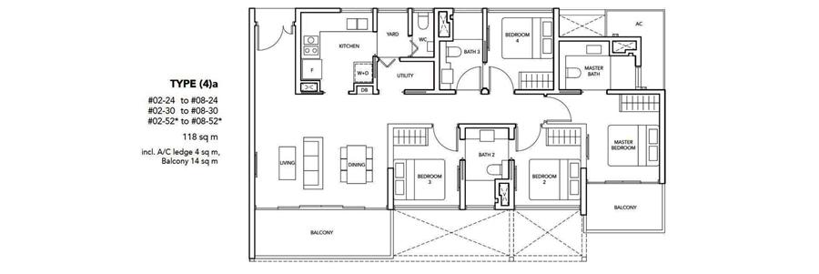 New Launch 4 Bedroom Floor Plan